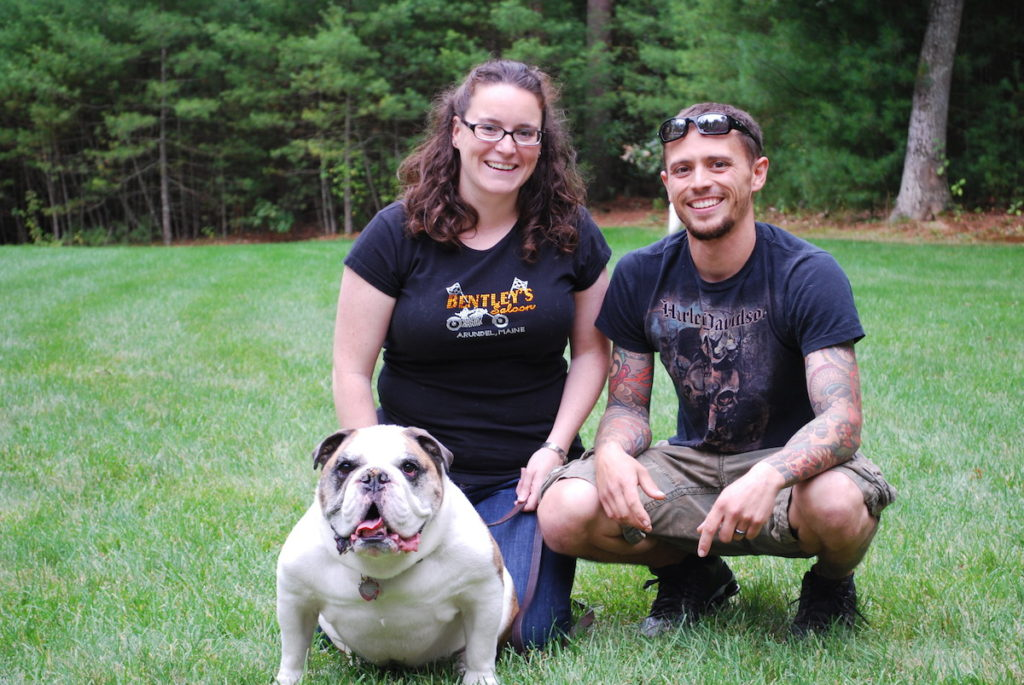Harley, Bull Dog - Stopped being a bully to his owners when the mood struck him. Life is good and his family loves him more than ever.